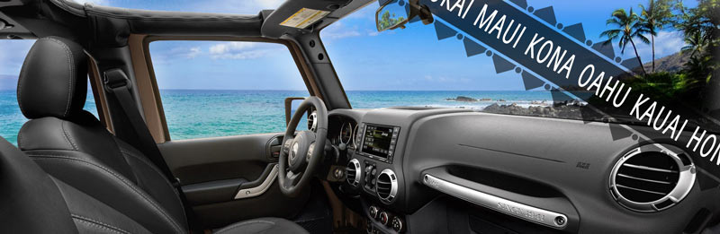 Jeep in the Hawaiian Islands