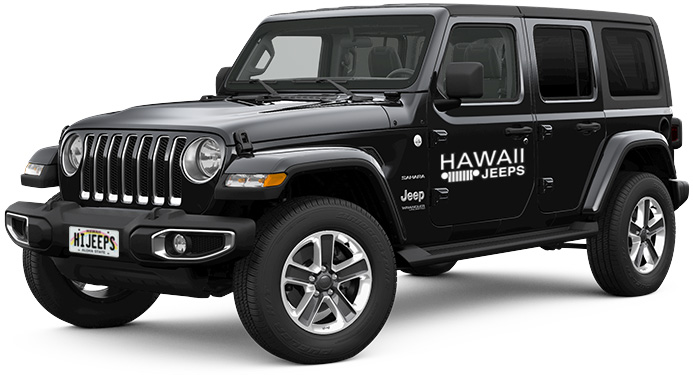 4 Door Jeep Wrangler Rentals : Oahu, Maui, Kauai and Big Island